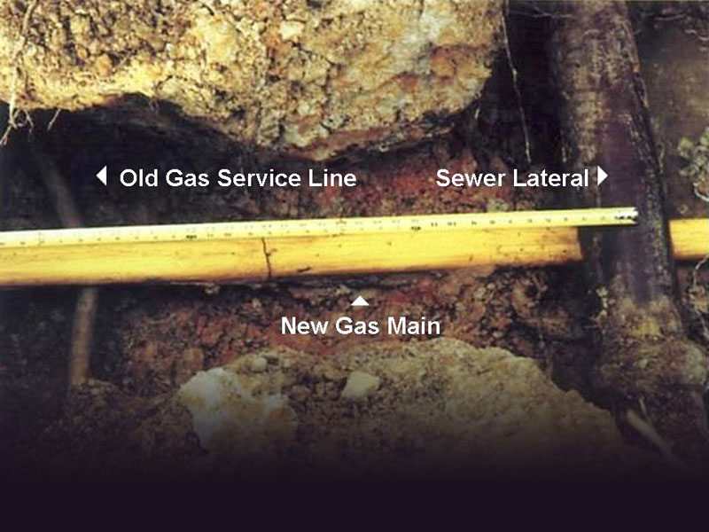 Running Natural Gas Line